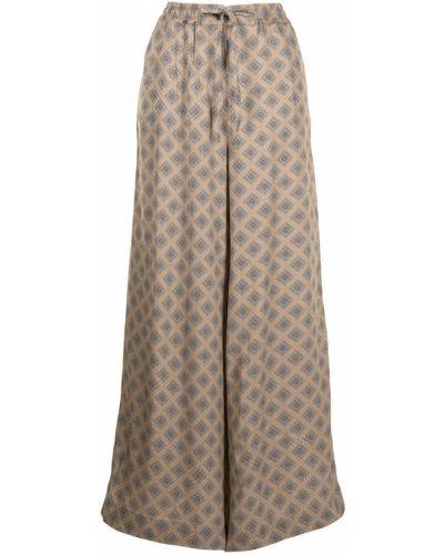 С завышенной талией коричневые брюки свободного кроя Pierre-louis Mascia