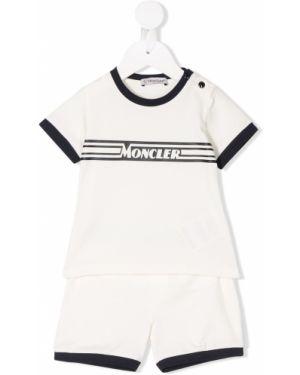 Комбинезон белый с логотипом Moncler Kids