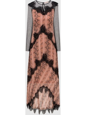 Розовое платье макси Twin-set