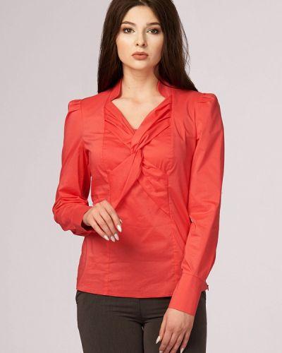 Блузка коралловый красная Ано