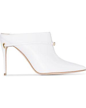 Белые мюли на каблуке Jennifer Chamandi