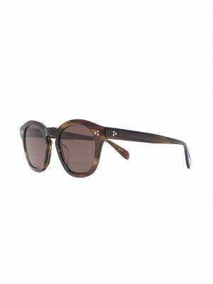 Солнцезащитные очки металлические - коричневые Oliver Peoples