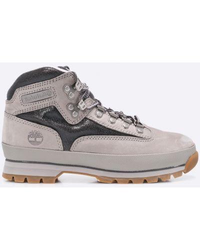 Ботинки на шнуровке замшевые теплые Timberland