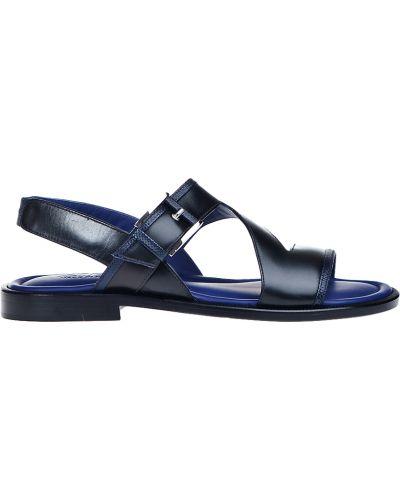 Черные кожаные сандалии Zilli