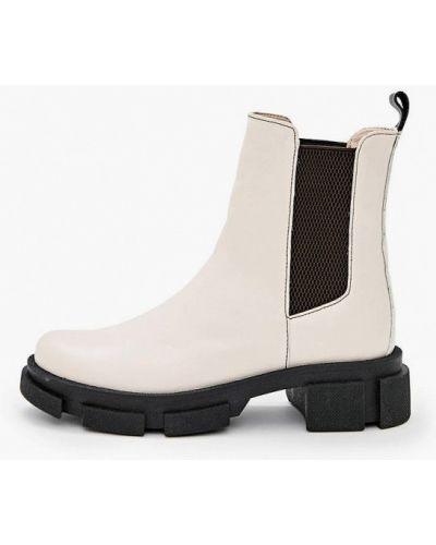 Кожаные ботинки челси - бежевые Avk Style