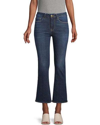 Ватные хлопковые укороченные джинсы с карманами Frame Denim