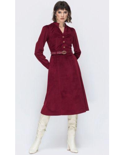 Платье вельветовое - бордовое Dressa