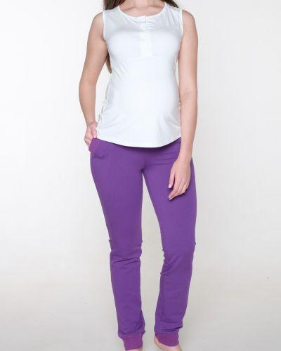 Свободные брюки зауженные фиолетовые Lacywear