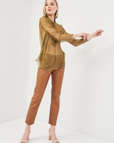 Шелковая блузка прозрачная с бантом Cacharel