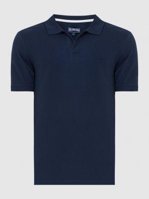 Поло с вышивкой - синий Vilebrequin