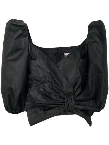 Czarna bluzka z dekoltem w serek Redvalentino