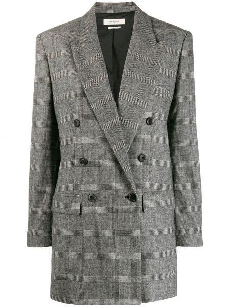 Черный пиджак двубортный с карманами Isabel Marant étoile