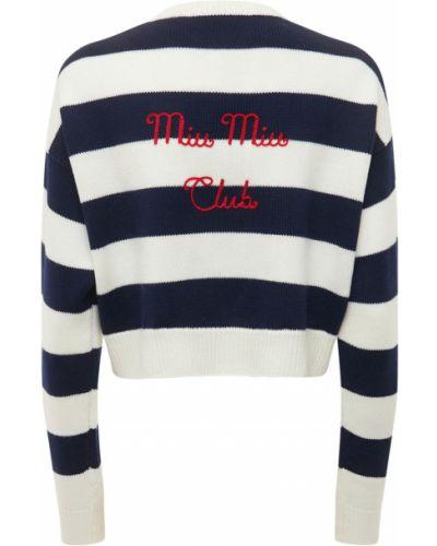 Шерстяной свитер - бежевый Miu Miu