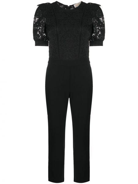 Кружевной с рукавами черный комбинезон с шортами Michael Michael Kors