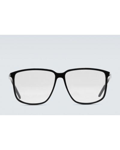 Czarny oprawka do okularów plac przezroczysty Saint Laurent