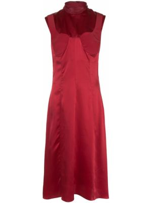 Шелковое платье миди без рукавов с вырезом на молнии Delada