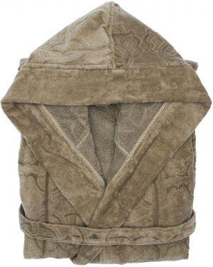 Szlafrok bawełniany z kapturem Roberto Cavalli