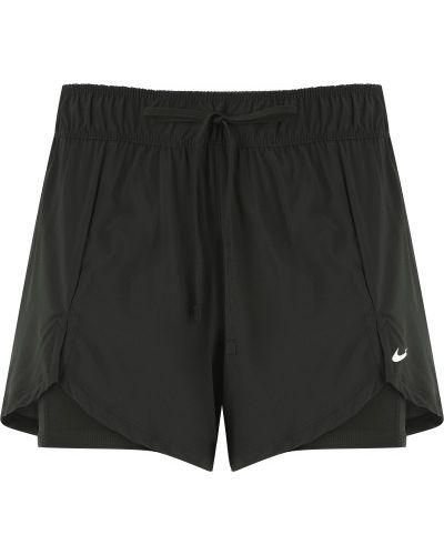 Черные спортивные шорты для фитнеса Nike