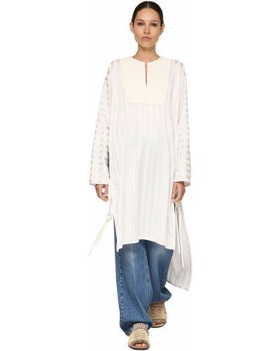 Платье макси длинное - белое Loewe