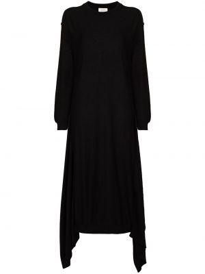 Трикотажное платье миди - черное Lemaire