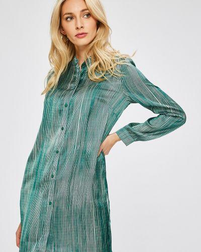 Блузка в полоску с воротником-стойкой Answear
