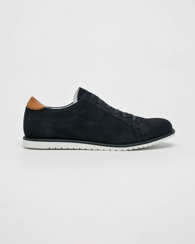 Туфли на шнуровке текстильные замшевые Gino Rossi