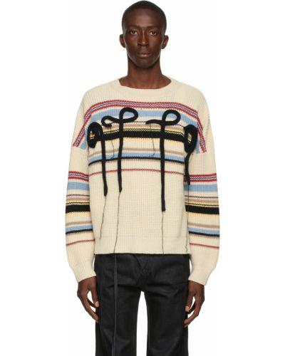 Biały sweter w paski Ottolinger