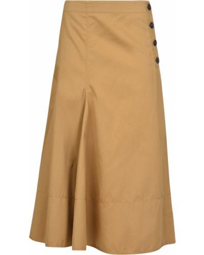 Хлопковая юбка - коричневая Joseph