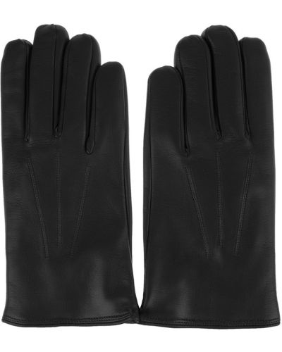 Czarne rękawiczki Orciani