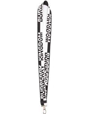 Брелок серебряный белый Burberry