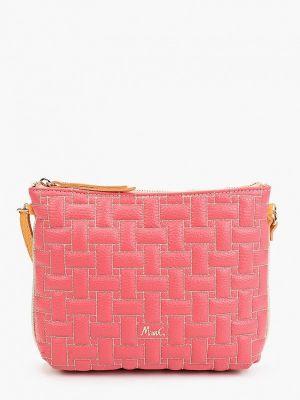 Розовая сумка через плечо из натуральной кожи Marina Creazioni