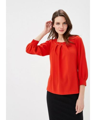 Блузка с длинным рукавом красная Grafinia