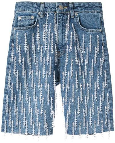 Джинсовые шорты со стразами Dalood