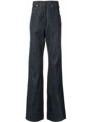 Расклешенные джинсы с карманами на пуговицах винтажные с высокой посадкой Fake Alpha X Levi's Vintage