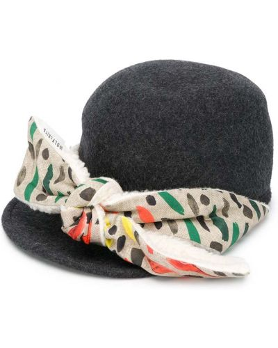 Серая ватная хлопковая шапка Wolf & Rita