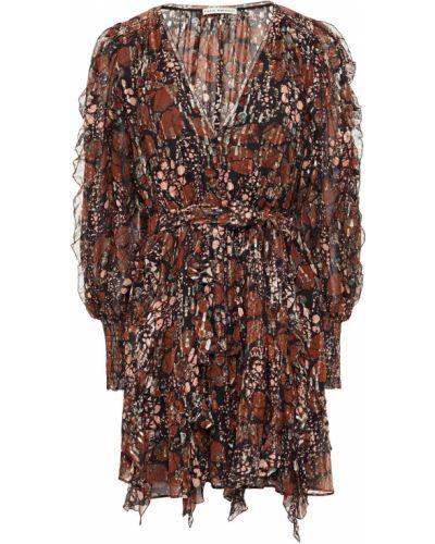 Шелковое платье мини - коричневое Ulla Johnson