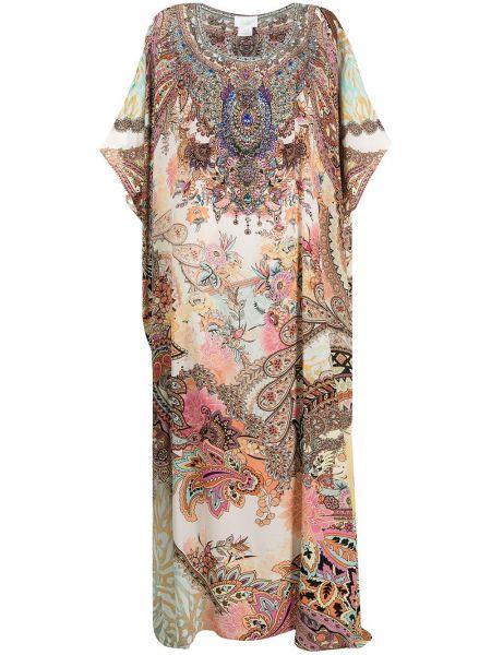 Шелковое платье макси Camilla