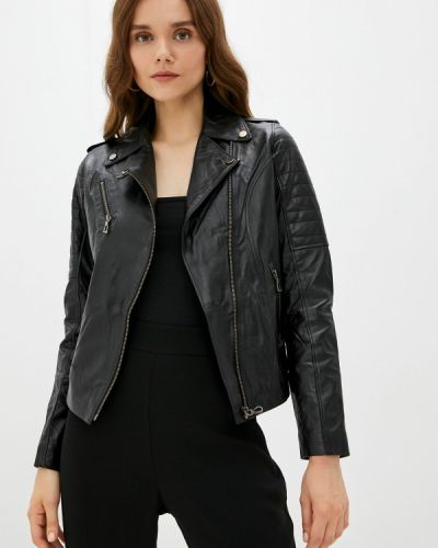 Черная демисезонная куртка Basics & More