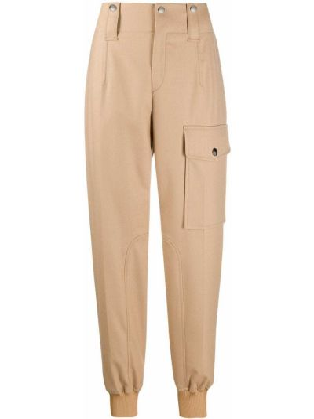 Шерстяные зауженные брюки карго Chloé