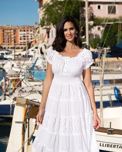 Платье мини короткое - белое Fresh Cotton