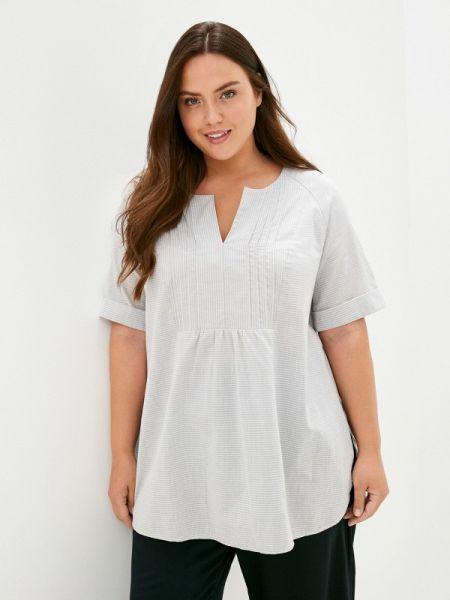 Серебряная блузка с коротким рукавом с короткими рукавами Silver String