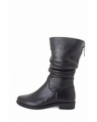 Кожаные сапоги - черные Tomfrie