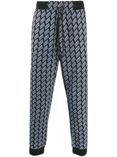 Prążkowane czarne spodnie bawełniane Mcq Alexander Mcqueen