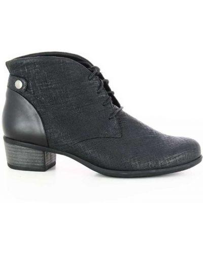 Czarne ankle boots Durea