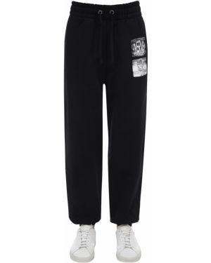 Czarne spodnie bawełniane Calvin Klein Established 1978