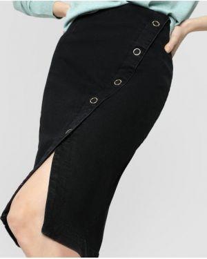 Джинсовая юбка с запахом индийский Ostin