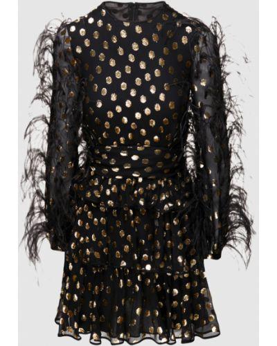Шифоновое черное платье мини Valentino