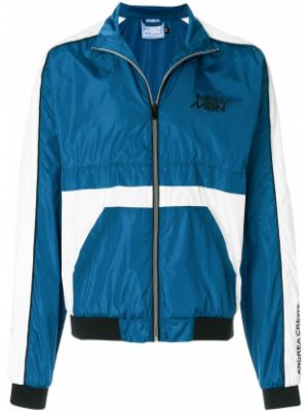 Синяя нейлоновая куртка Andrea Crews