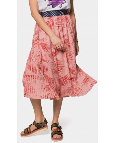 Плиссированная юбка розовая Mr520