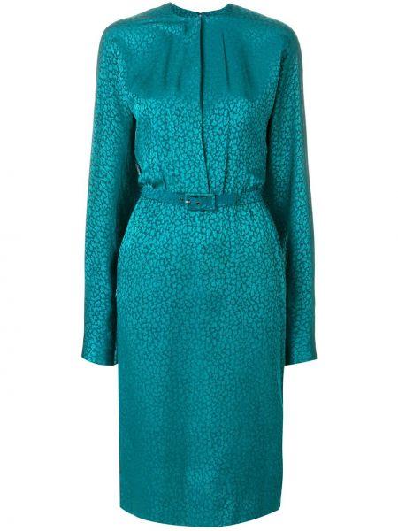 Платье с поясом винтажная на молнии Jean Louis Scherrer Pre-owned